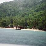 Spiagge lungo l'isola