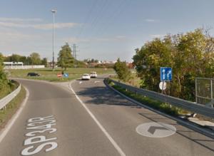 Rotonda di Casalmaggiore - ingresso da Parma